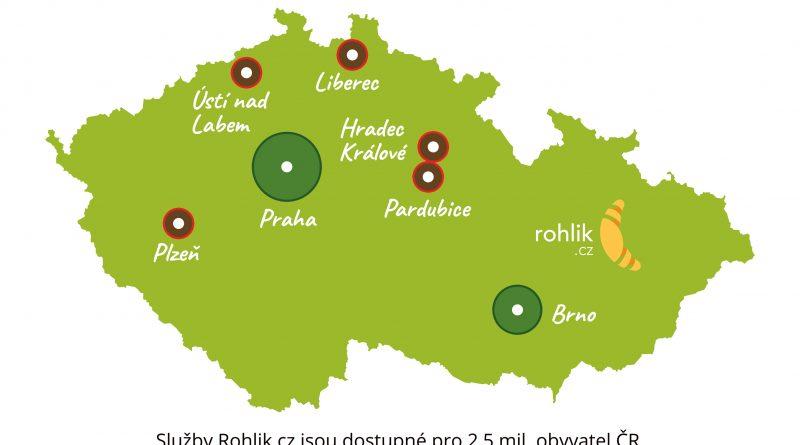 Rohlik.cz se otevírá v pěti nových městech.  Nákup doručí již od čtyř hodin po objednání.